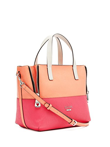 GUESS Women's Doheny Color-Blocked Satchel Bag, Passion Multi
