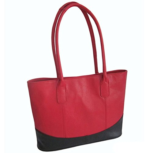 Amerileather Casual Leather Handbag Red/black 1827-0578