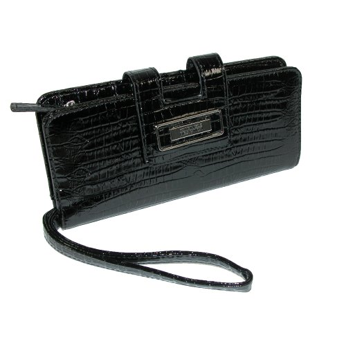 Kenneth Cole Reaction Cut It Out Clutch Wallet in Shiny Croco Finish