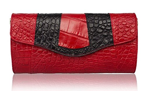 2015 New Crocodile Pattern Leather Clutch Bag Handbag Shoulder Diagonal