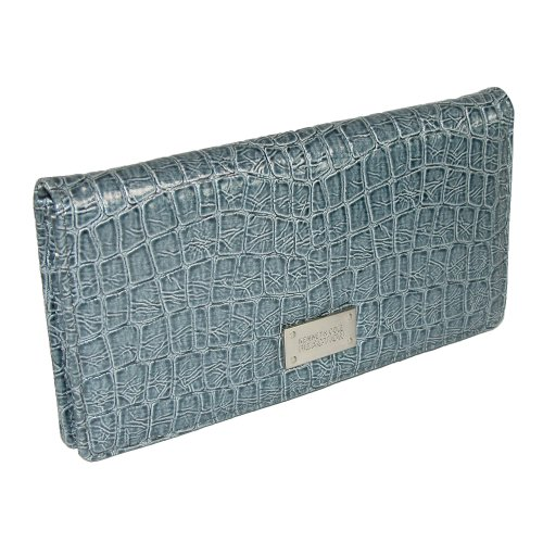 Kenneth Cole Reaction Slim Wallet in Shiny Croco Finish