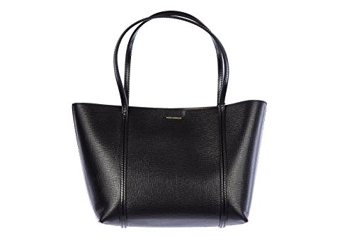 DOLCE&GABBANA women's leather shoulder bag original calfskin black