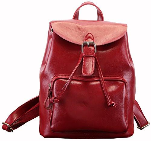 Heshe Soft Genuine Leather Ladies Drawstring Backpack/purse Handbag Shoulder School Bag
