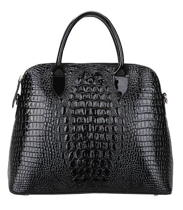 bc44d6200f Heshe New Office Lady Genuine Leather Luxury Simple Style Fashion Crocodile  Tote Top Handle Crossbody Shoulder