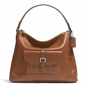 Coach Park Saddle Brown Leather Hobo Shoulder / Cross-body