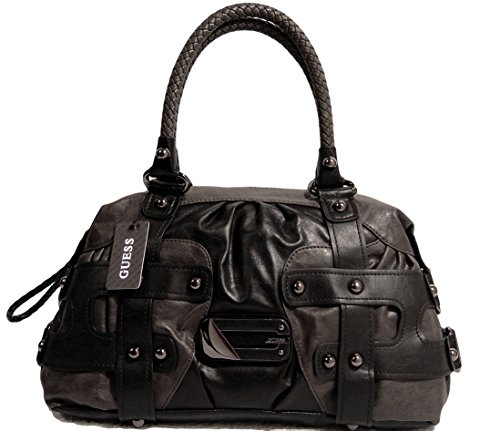 GUESS Alina Satchel Bag Handbag Purse, Black