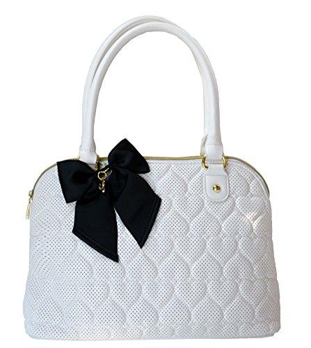 Betsey Johnson Dome Satchel Shoulder Bag Handbag Tote Be Mine Hearts