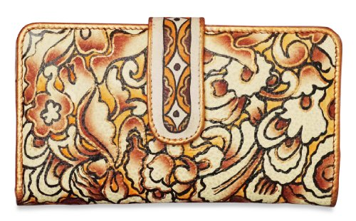 Zimbelmann – Womens Purse – made of genuine Nappa Leather – multicoloured handpainted – Diana
