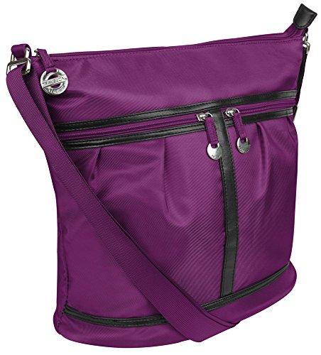 Travelon Nylon Adjustable Bucket Hobo – Violet