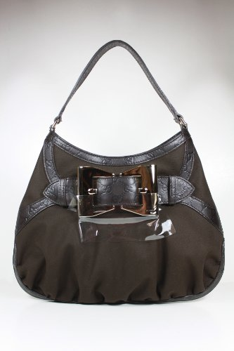 Gucci Handbags Brown Fabric and Leather 279158 Purse