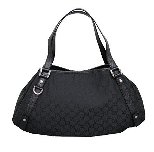 Gucci Black Abbey Nylon Tote Bag Hobo Handbag 293578
