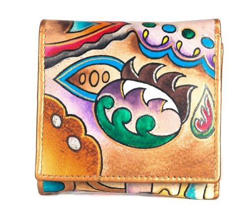 Zimbelmann – Womens Purse – made of genuine Nappa Leather – multicoloured handpainted – Ayleen