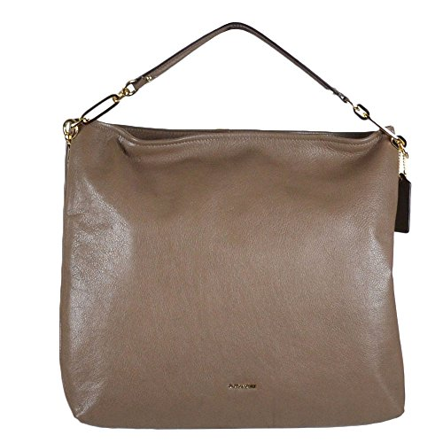 Coach Leather Madison Zip Convertible Hobo Bag 27858 Silt Brown