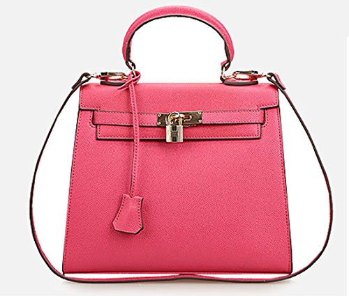 Heshe Lady's Genuine Leather New Fashion Designer Tote Top Handle Shoulder Crossbody Bag Purse Handbag for Women
