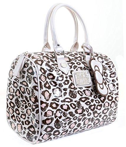 Loungefly Hello Kitty Muave Leopard Embossed Duffle Handbag Oversized Purse