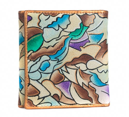 Zimbelmann – Womens Purse – made of genuine Nappa Leather – multicoloured handpainted – Aurelia