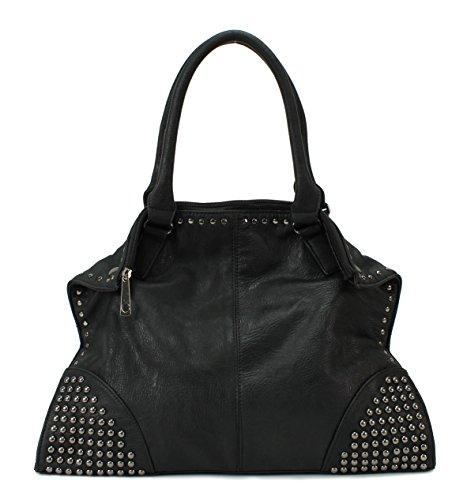 Scarleton Studded Corner Shoulder Bag H1596
