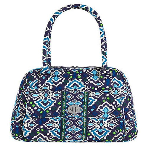 Vera Bradley Turn Lock Satchel in Ink Blue, 13459-164