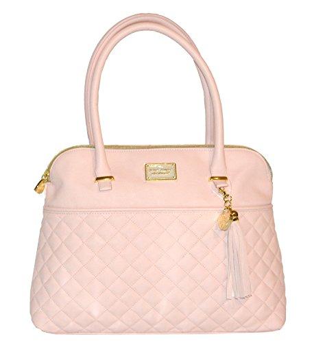 Betsey Johnson Diamond Quilt Tassel Dome Satchel Purse Shoulder Bag Handbag