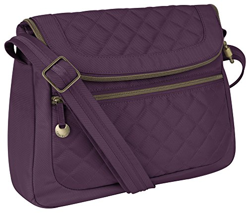 Trv Anti-Theft Quilt Conv Bag W/rfid Wal – Purple