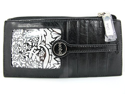 HOBO Metro Slide Genuine Leather Card/ID Holder Black