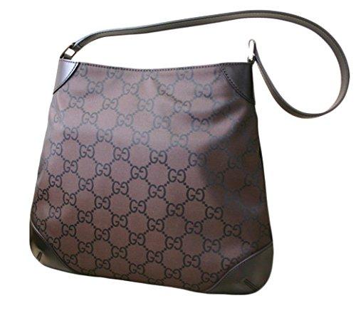 Gucci Nylon Brown Hobo Handbag Shoulder Bag 257296