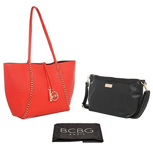 Bcbg Paris Handbag Convertible Reversible Chain Bag