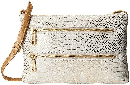Hobo Handbags Vintage Leather Mara Crossbody – Gold Filigree Exotic