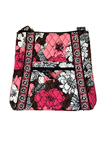 Vera Bradley Hipster in Mocha Rouge with Solid Pink Interior