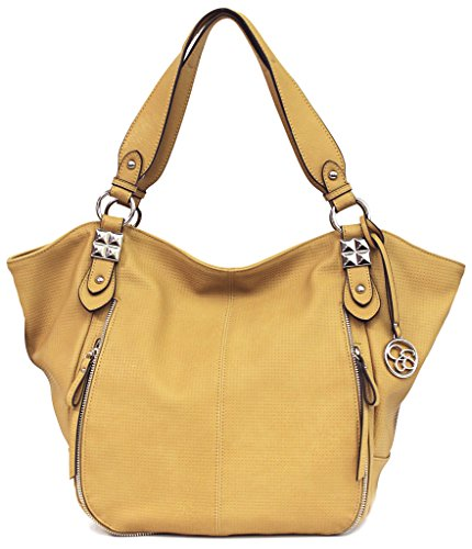 Jessica Simpson Monica Tote Shoulder Bag, Camel, One Size