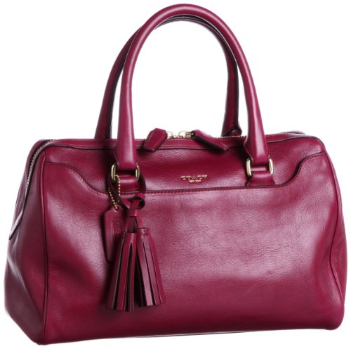 COACH Legacy Haley Leather Satchel 23574 in Deep Port