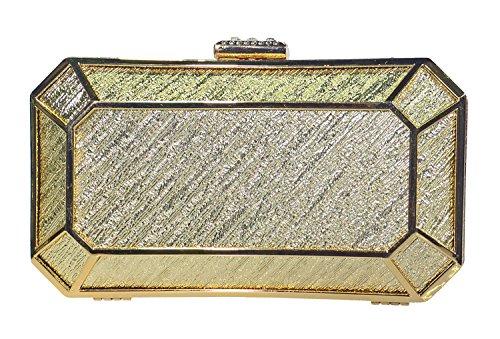 George Versailles Clutch Baguette Bag Purse Women Evening Handbag with Detachable Chain
