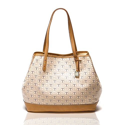 Tommy Hilfiger Women Monogram Tote (PEARL/ROSE/BERRY)