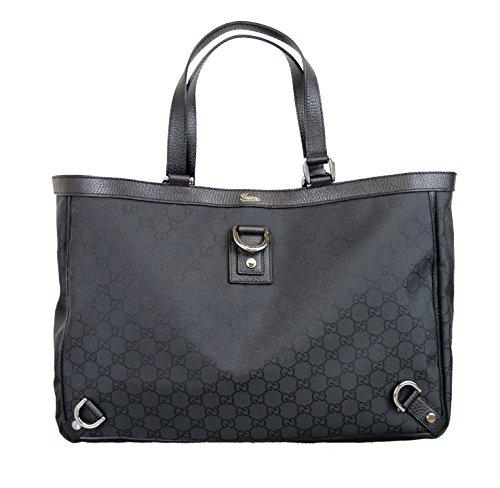 Gucci Nylon Black Abbey Tote Handbag Shoulder Bag 293580