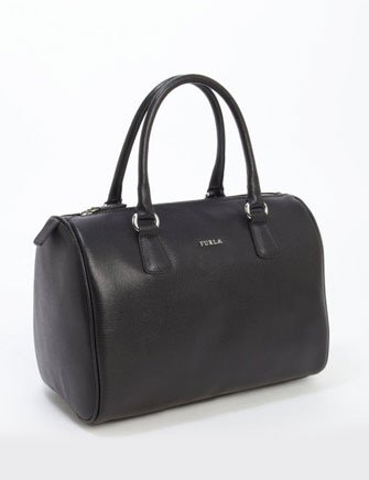 Furla D-Light Saffiano Textured Leather Satchel Bag