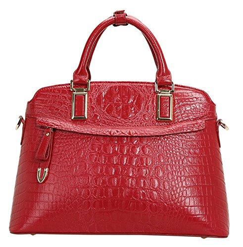 SAIERLONG Womens Crocodile Genuine Leather Messenger bag handbag shoulder bag