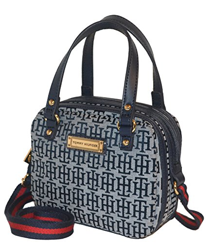 Tommy Hilfiger Signature CV Duffle Crossbody Bag Purse Handbag