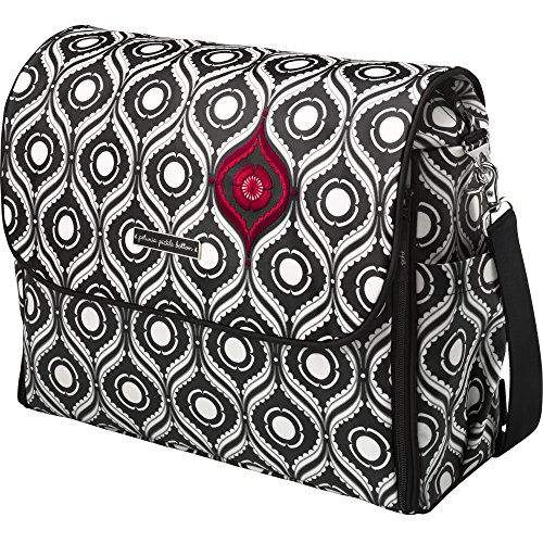 Petunia Pickle Bottom Abundance Boxy Backpack in Evening in Islington, Black/White