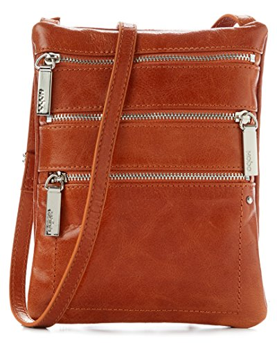 Hobo International The Original Becka Crossbody Shoulder Bag in Cinnamon Brown