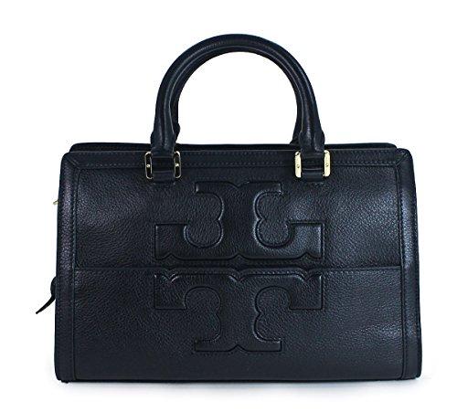 Tory Burch Jessica Satchel Womens Black Purse Leather Satchel