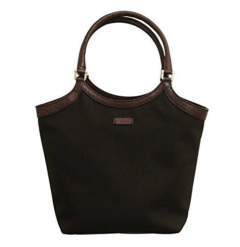 Gucci Brown Canvas Shoulder Bag Guccissima Trim Tote Handbag 279153