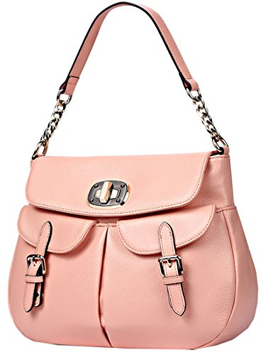 Qw 2015 New Genuine Leather Office Lady Simple Style Fashion Tote Top Handle Shoulder Crossbody Bag Satchel Purse Handbag for Women