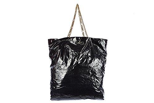 Lanvin women's leather shoulder bag original tote black