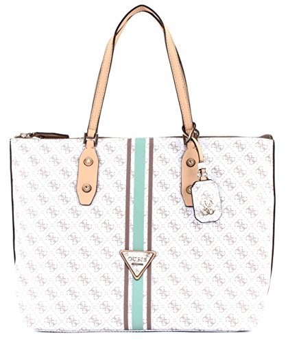 GUESS Women's Logo Sport Large Tote Bag, White