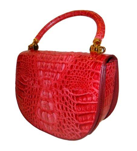 Lola Red – Genuine Crocodile Skin Handbag