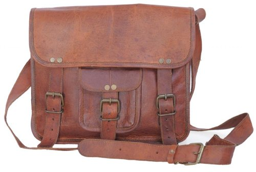 Komal's Passion Leather 11″ Inch Leather Ipad / Ipad 2/ Ipad 3/ Ipad 4/ Tablet Satchel Shoulder Bag