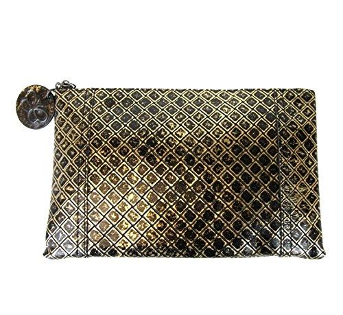 Bottega Veneta Intrecciomirage Pouch Bag Leather Clutch 301498 8414