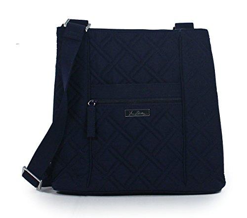 Vera Bradley Hipster Navy Blue Crossbody Handbag Shoulder Bag Purse