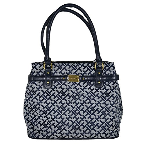 Tommy Hilfiger Womens Purse Shopper Handbag Blue