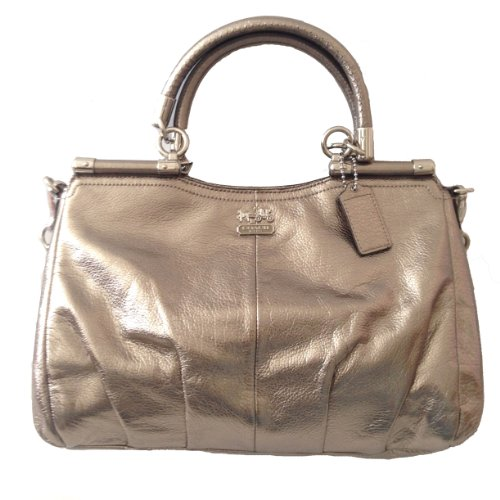 Coach Madison Metallic Leather Carrie